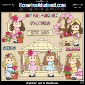 RESALE ART WORK Beautiful Bella Secret Garden ClipArt Collection