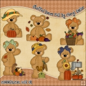 Stuffed Bears Fall ClipArt Graphic Collection