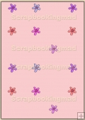 Backing Papers Single - Pink Flowers - REF_BP_41