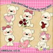 Polar Bears Sweet Valentine ClipArt Graphic Collection