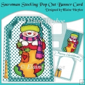Snowman Stocking Pop Out Banner Card Kit