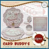 Baby Girl Fancy Scalloped Easel Card Kit