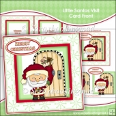 Little Santas Visit Card Front