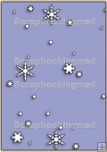 Backing Papers Single - Purple Snow Flakes - REF_BP_69