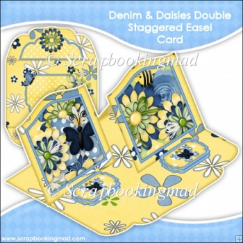 Denim & Daisies Double Staggered Easel Card