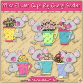 Mice Flower Cups Collection - EXCLUSIVE SPECIAL EDITION