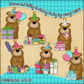Boscoe and Betty Birthday Party ClipArt Graphic Collection