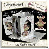 Spring Box Card - Merry Christmoose