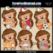 Pepper The Hedgehog All Boy ClipArt Collection