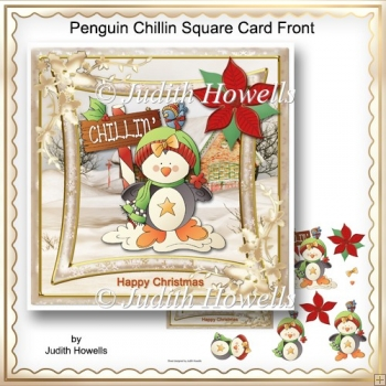 Penguin Chillin Square Card Front