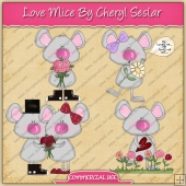 Love Mice ClipArt Graphic Collection - REF - CS