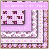 5 Lilac Valentine Love Letter Backing Papers Download (C231)