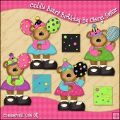 Cuddle Bears Birthday ClipArt Graphic Collection