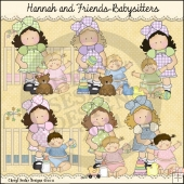 Hannah and Friends Babysitters ClipArt Graphic Collection