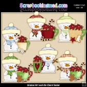 Little Snowman Snowman Soup ClipArt Collection