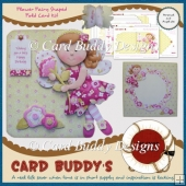 Flower Fairy Shaped Fold Card Kit