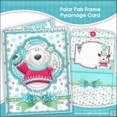 Polar Pals Frame Pyramage Card and Envelope