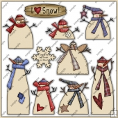 Simply Frostys ClipArt Graphic Collection