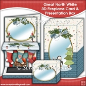 Great North White 3D Fireplace Card & Presentation Box
