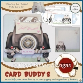 Wedding Car Shaped Fold Card Kit