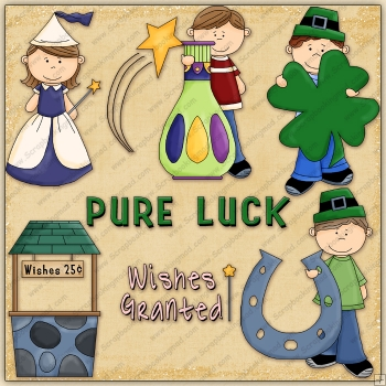 Luck & Wishes ClipArt Graphic Collection