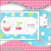 Birthday Cupcake Tri Shutter Card