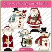 Christmas Folk ClipArt Graphic Collection - REF - CS
