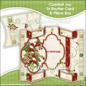 Comfort Joy Tri Shutter Card With Matching Pillow Box
