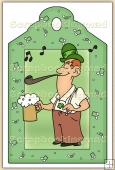 Irish Man (4) Decorative Tag - REF_T88