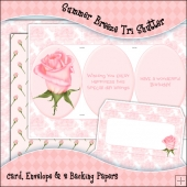 Summer Breeze Tri Shutter Card, Envelope & Backing Papers