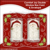 Comfort Joy Double Window Box Card and Envelope