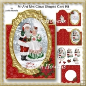 Mr And Mrs Claus Shaped Card Kit