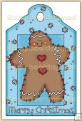 Christmas GingerBread Man Decorative Tag - REF_T17