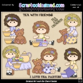 Charlottes Tea Party ClipArt Collection