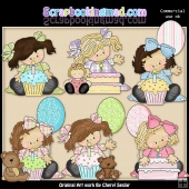 Madison and Molly Birthday Wish ClipArt Graphic Collection