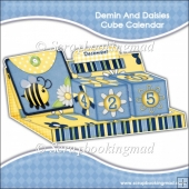 Denim and Daisies Cube Calendar