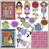 Spring Angels ClipArt Graphic Collection