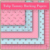 5 Tulip Tammy Backing Papers Download (C128)