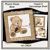 Phone Woes Topper & Decoupage Sheet - No Credit