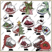 Santas ClipArt Graphic Collection 1
