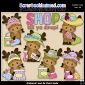 Matilda The Moose Shop Till Ya Drop ClipArt Collection