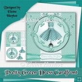 Pretty Green Dress Cardfront