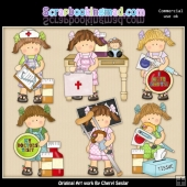 Maggie At The Doctors ClipArt Collection