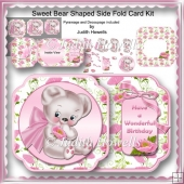 Sweet Bear Shaped Side Fold Card Kit