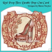 Red Peep Toes Double Pop-Out Card