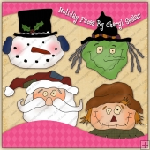 Holiday Faces Graphic Collection - REF - CS