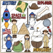 Little Explorer ClipArt Graphic Collection