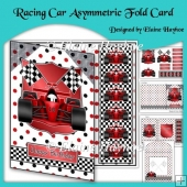 Racing Car Asymmetric Fold Card