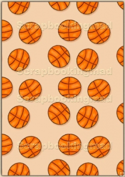 A4 Backing Papers Single - Beige Basketball - REF_BP_164