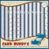 Twelve 12x12 Baby Boy Background Papers